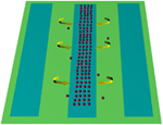 Floating electrodes to manipulate small-gravity particle samples in modern microfluidic systems