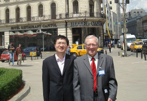 Xiaolong HUANG and Valery CHECHEV in Bucharest during the DDEP meeting held in the Hotel Capitol 12-14 May 2008.
