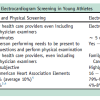 Electrocardiogram screening in athletes: