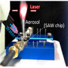 Chip-based microacoustic aerosols generators