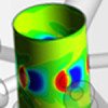 Fluid flow dynamics in a Nuclear Magnetic Resonance system