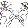 How magnetic interaction between two distant paramagnetic metals is influenced by central diamagnetic cyanidometal?