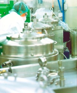 Fig. 1. Collection of separated protein precipitates in refrigerated centrifuges.