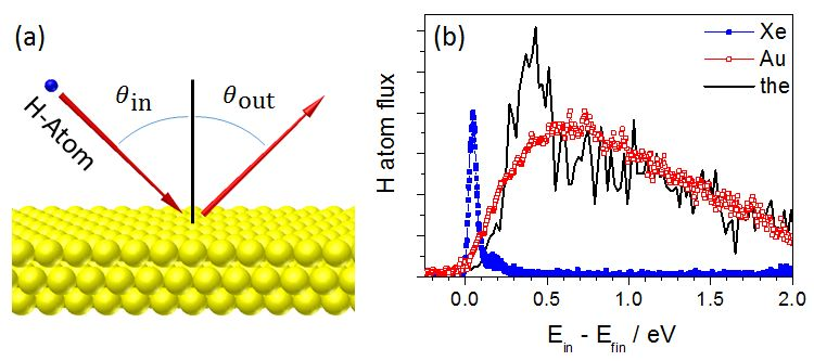 gold surface in comparison to the theoretical model