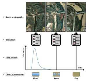 Aerial photographs and direct observations are adequate for instantaneous determinations of the aquatic state