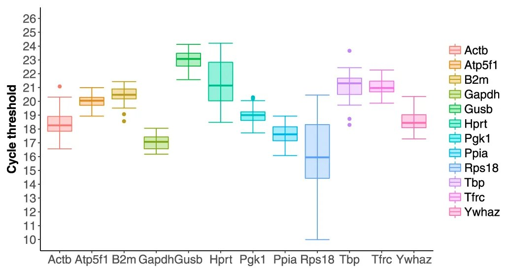Housekeeping genes vary strongly throughout the iPS